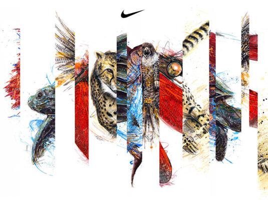 疯狂的耐克标志设计,创意logo设计改造