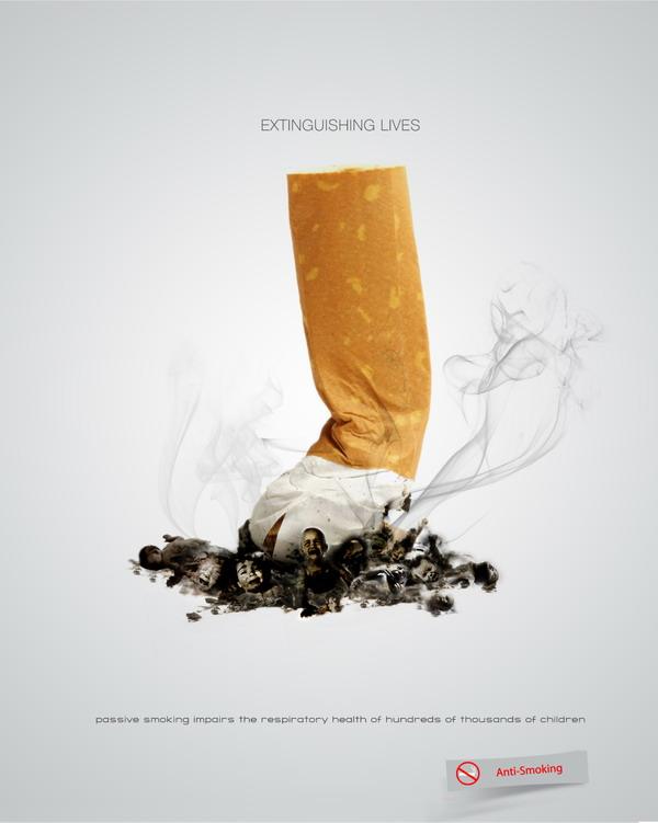 宝安广告设计公司分享:52个禁烟广告设计文案