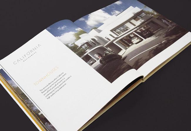 西安画册设计公司推荐:加利福尼亚房地产画册设计