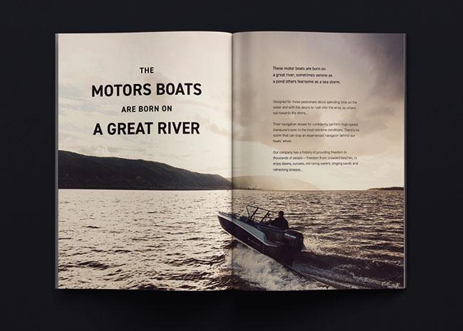 摩托艇制造商公司画册设计欣赏