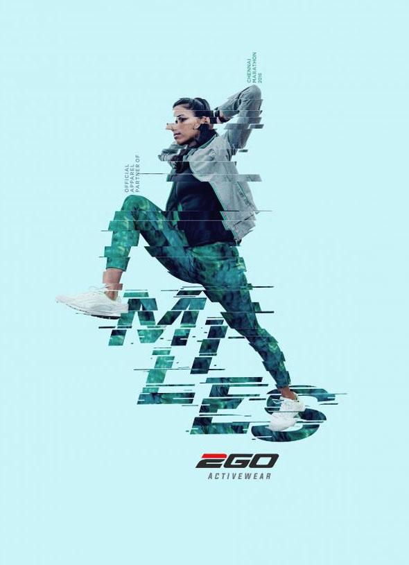 成都广告设计公司整理:运动服饰品牌Ego平面广告设计欣赏
