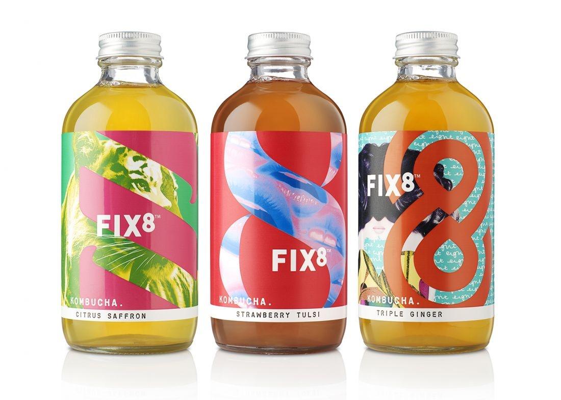 深圳出名的纯设计公司分享:FIX8饮品vi设计,标志logo设计