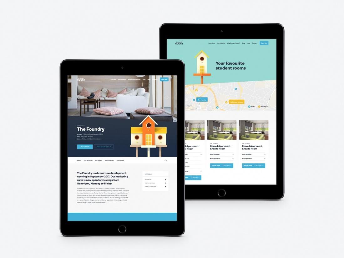 学生公寓租赁平台品牌网站设计