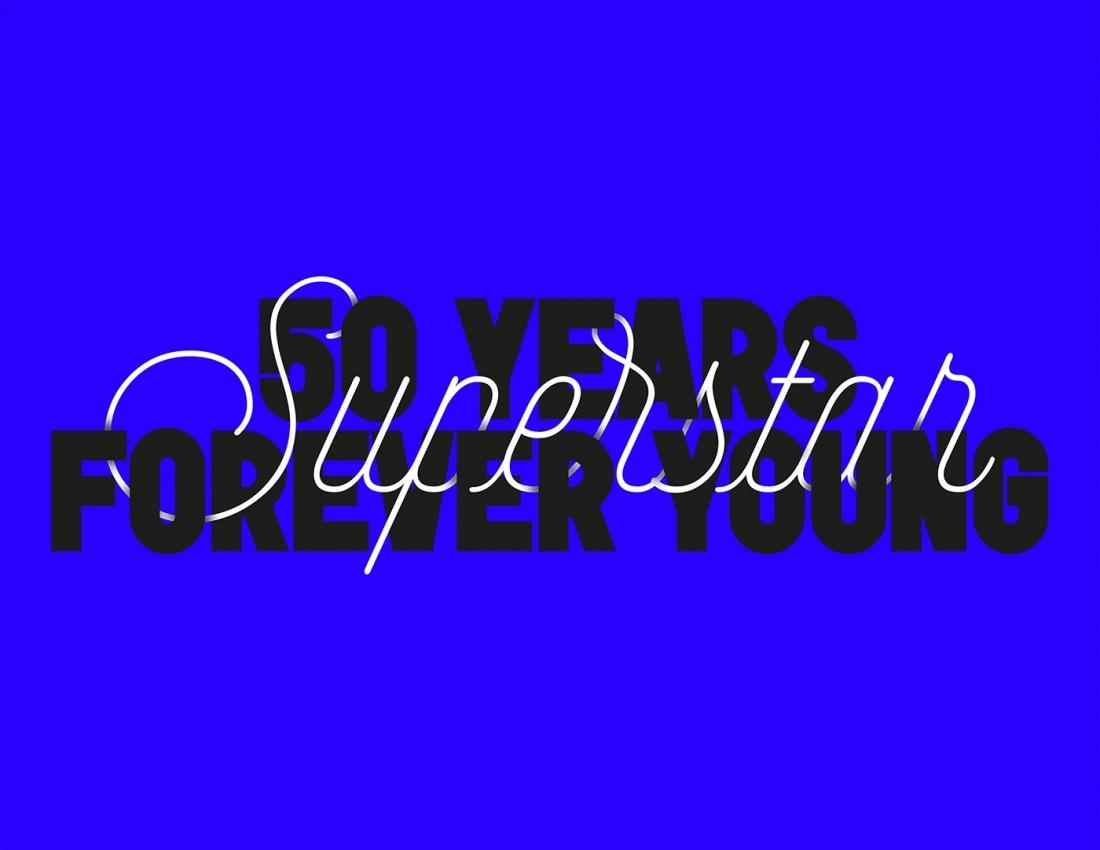 """阿迪达斯超级明星50年""""永远年轻""""主题平面设计"""