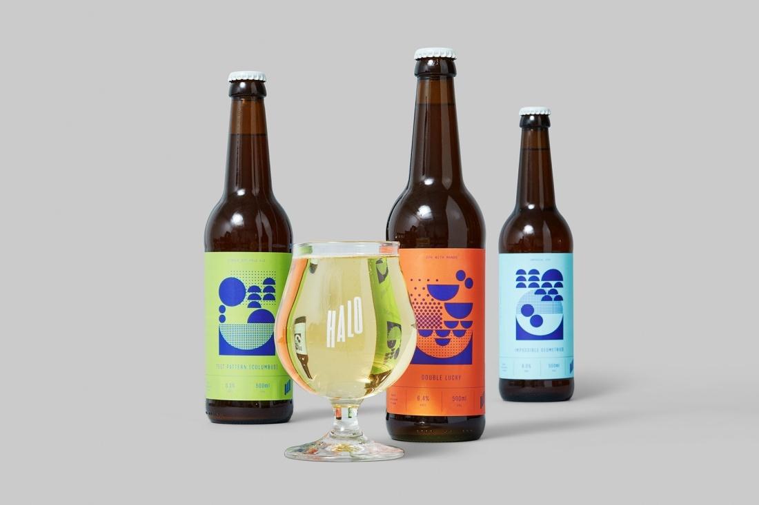 Halo啤酒vi形象设计于外包装设计,现代叛逆、充满活力