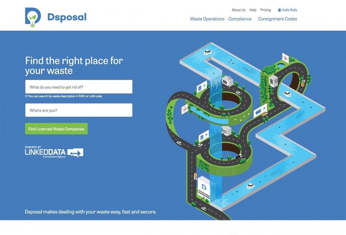dsp垃圾回收利用处理平台公司品牌形象塑造,插图设计灵感