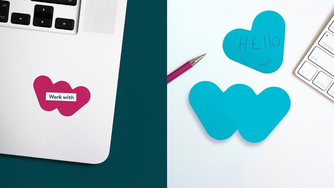 Webhelp大膽而富有表現力的品牌識別系統SIS設計,新標志設計