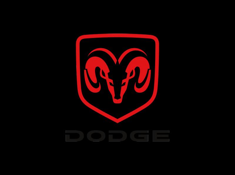Dodge logo RAM red
