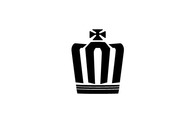 Toyota Crown logo black