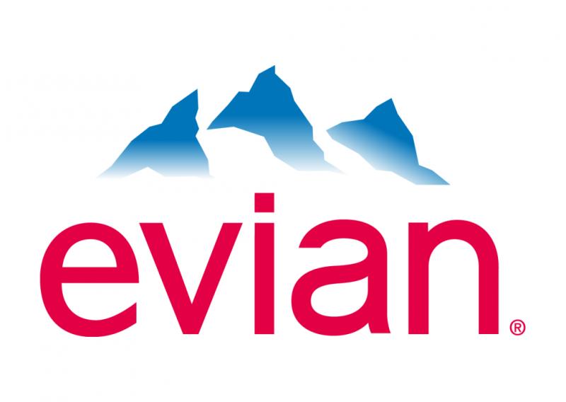 Evian logo blue cloud