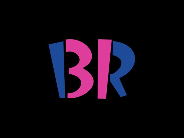 Baskin-Robbins冰淇淋连锁专卖店logo设计