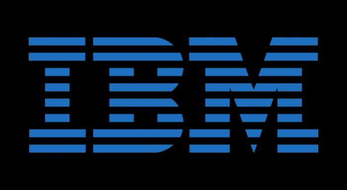 IBM logo blue