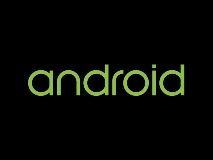 Android logo wordmark 2014
