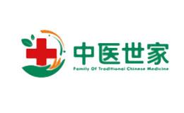 中医世家大药房棉球标志logo设计,品牌设计vi策划