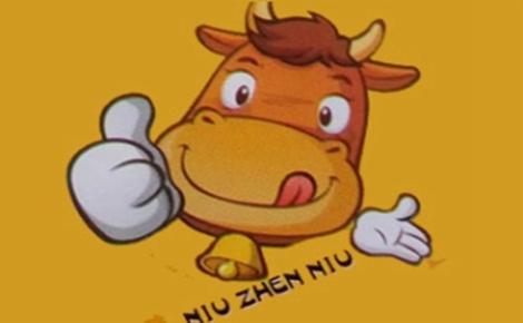 牛真牛牛肉汤锅贴牛肉汤标志logo设计