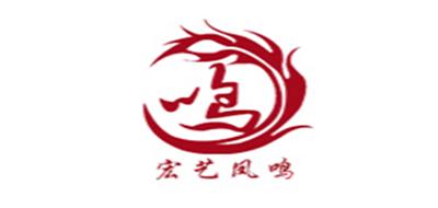 宏艺凤鸣二胡标志logo设计