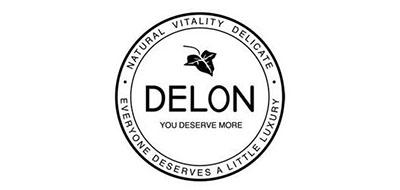 Delon石榴石标志logo设计