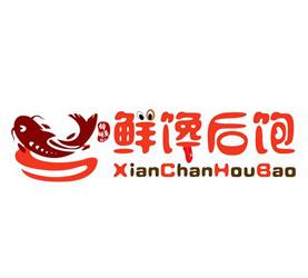 鲜馋后饱啵啵鱼啵啵鱼标志logo设计