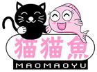 猫猫鱼布娃娃标志logo设计